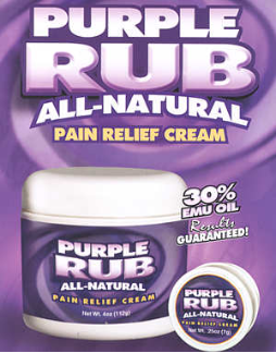 Purple Rub All Natural Pain Relief Cream O.T.C.