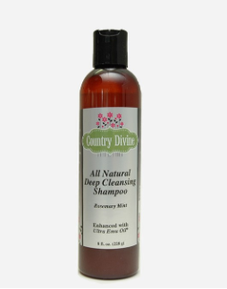 All Natural Deep Cleansing Emu Oil Shampoo Rosemary Mint 8oz. Bottle