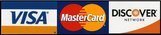 Visa, Master Card and Discover Accepted. Google Checkout, PayPal, Money Orders and Personal Checks also Accepted.