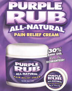 Click Here For Purple Rub All Natural Pain Relief Cream Video