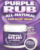 Purple Rub All Natural Pain Relief Cream O.T.C. 4 oz. Jar